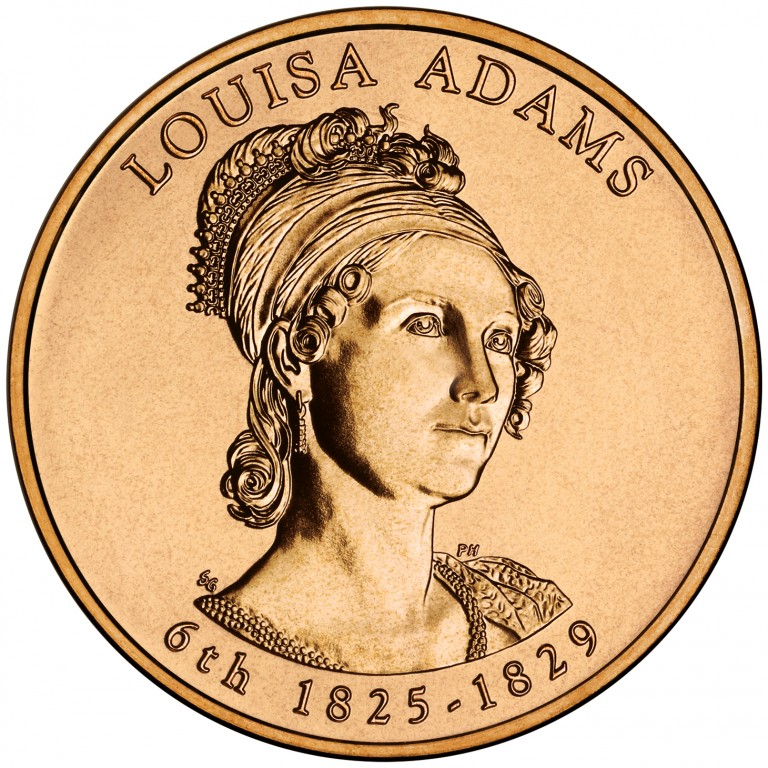 Louisa Adams First Spouse Bronze Medal Obverse