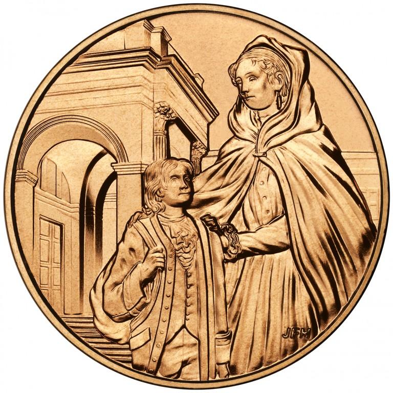 Louisa Adams First Spouse Bronze Medal Reverse