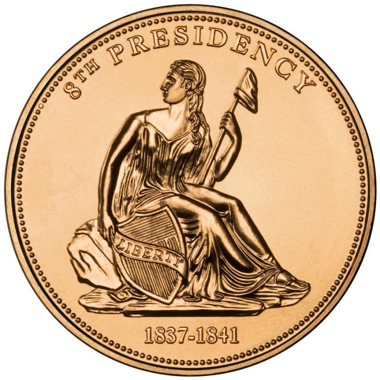 Van Buren Liberty First Spouse Bronze Medal Obverse