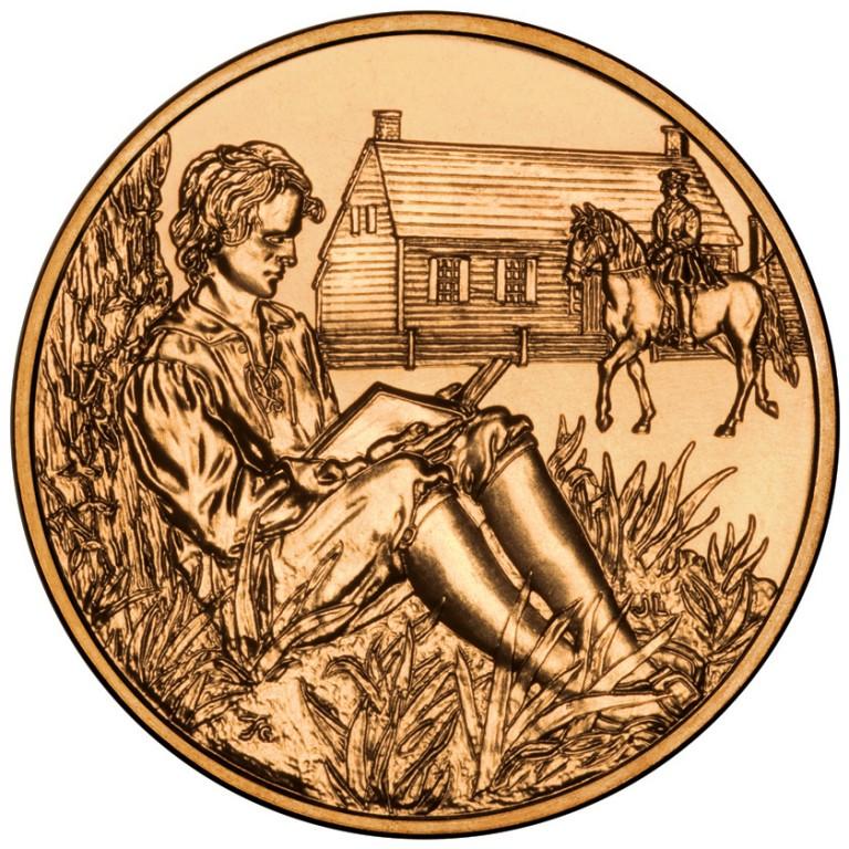 Van Buren Liberty First Spouse Bronze Medal Reverse
