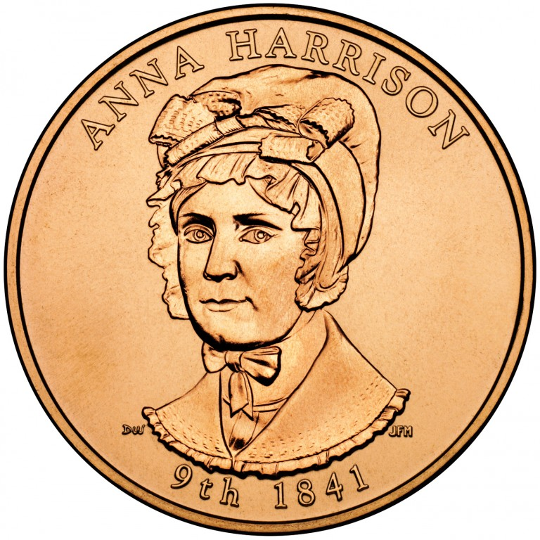 Anna Harrison First Spouse Bronze Medal Obverse