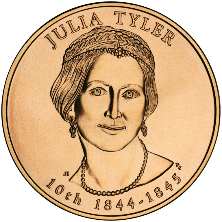 Julia Tyler First Spouse Bronze Medal Obverse