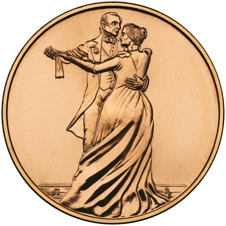 Julia Tyler First Spouse Bronze Medal Reverse