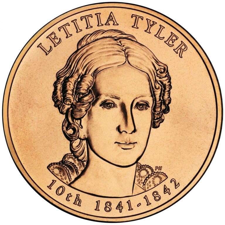 Letitia Tyler First Spouse Bronze Medal Obverse