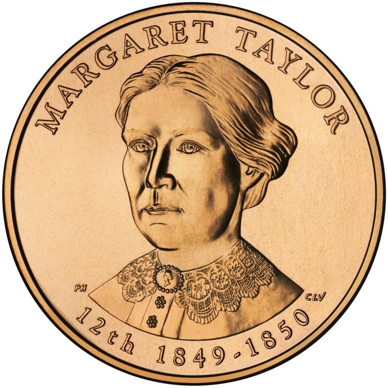 Margaret Taylor First Spouse Bronze Medal Obverse