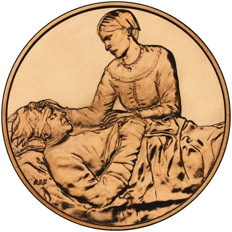 Margaret Taylor First Spouse Bronze Medal Reverse