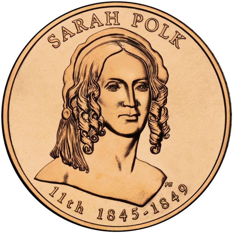 Sarah Polk First Spouse Bronze Medal Obverse