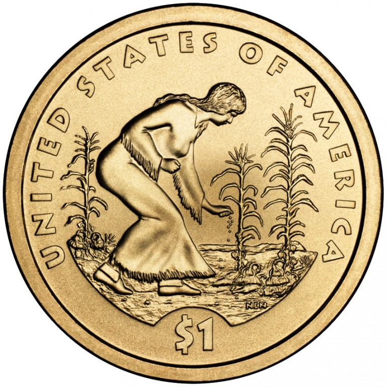 2009 Native American One Dollar Uncirculated Reverse