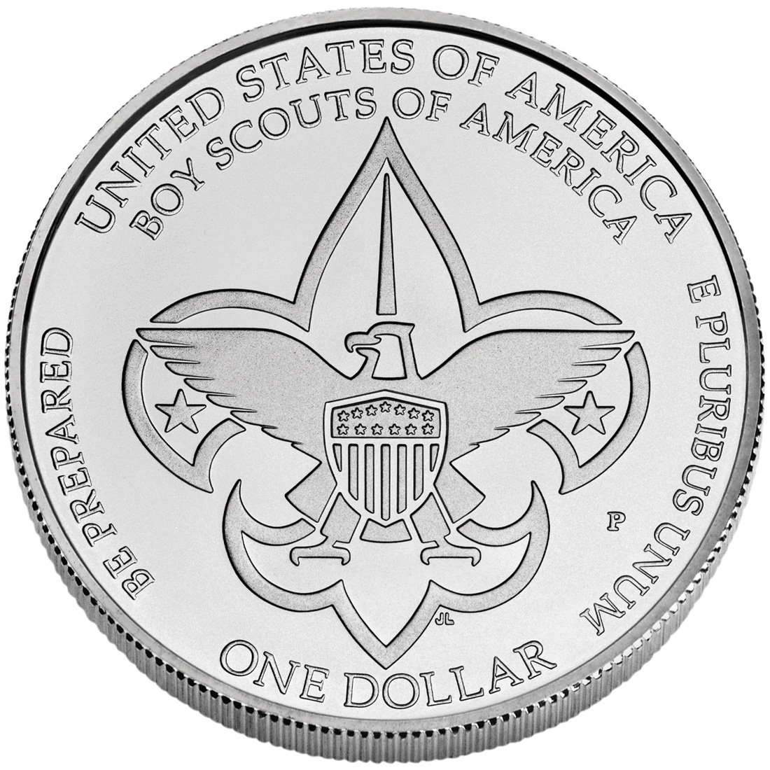 2010 Boy Scouts Of America Centennial Commemorative Silver One Dollar Uncirculated Reverse