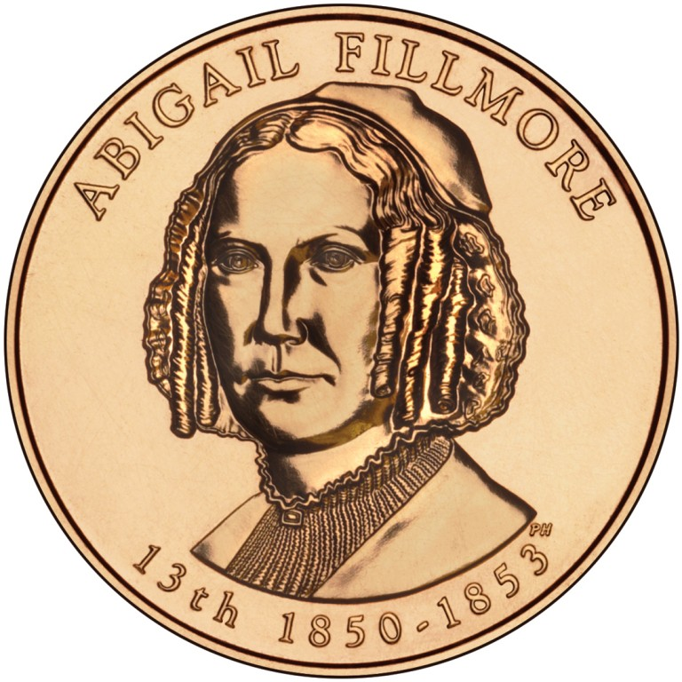 Abigail Fillmore First Spouse Bronze Medal Obverse