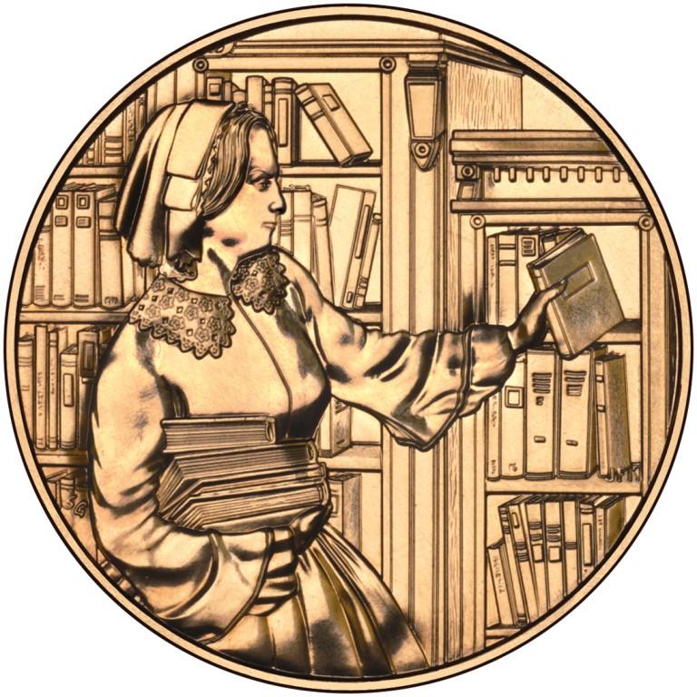 Abigail Fillmore First Spouse Bronze Medal Reverse