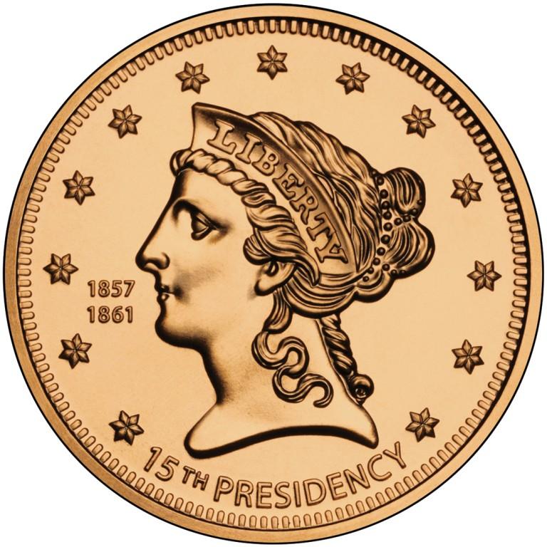 Buchanan Liberty First Spouse Bronze Medal Obverse