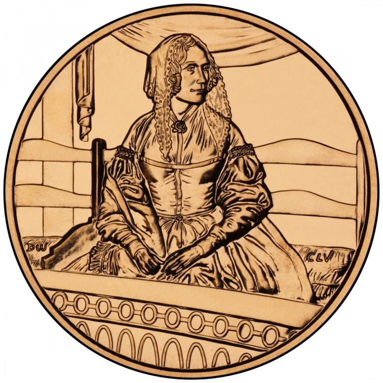 Jane Pierce First Spouse Bronze Medal Reverse