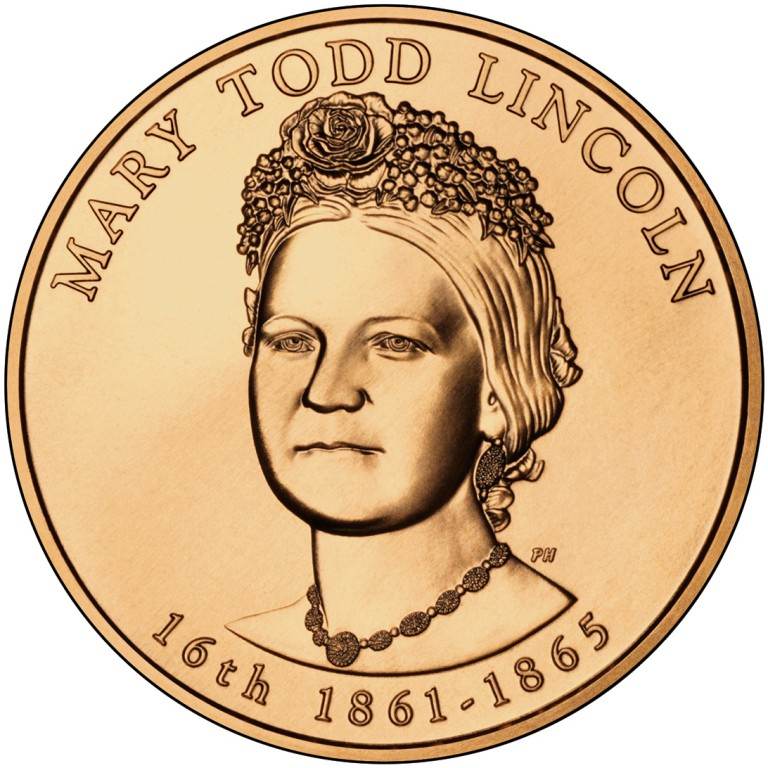 Mary Todd Lincoln First Spouse Bronze Medal Obverse
