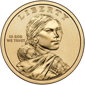 2010 Native American One Dollar Uncirculated Obverse