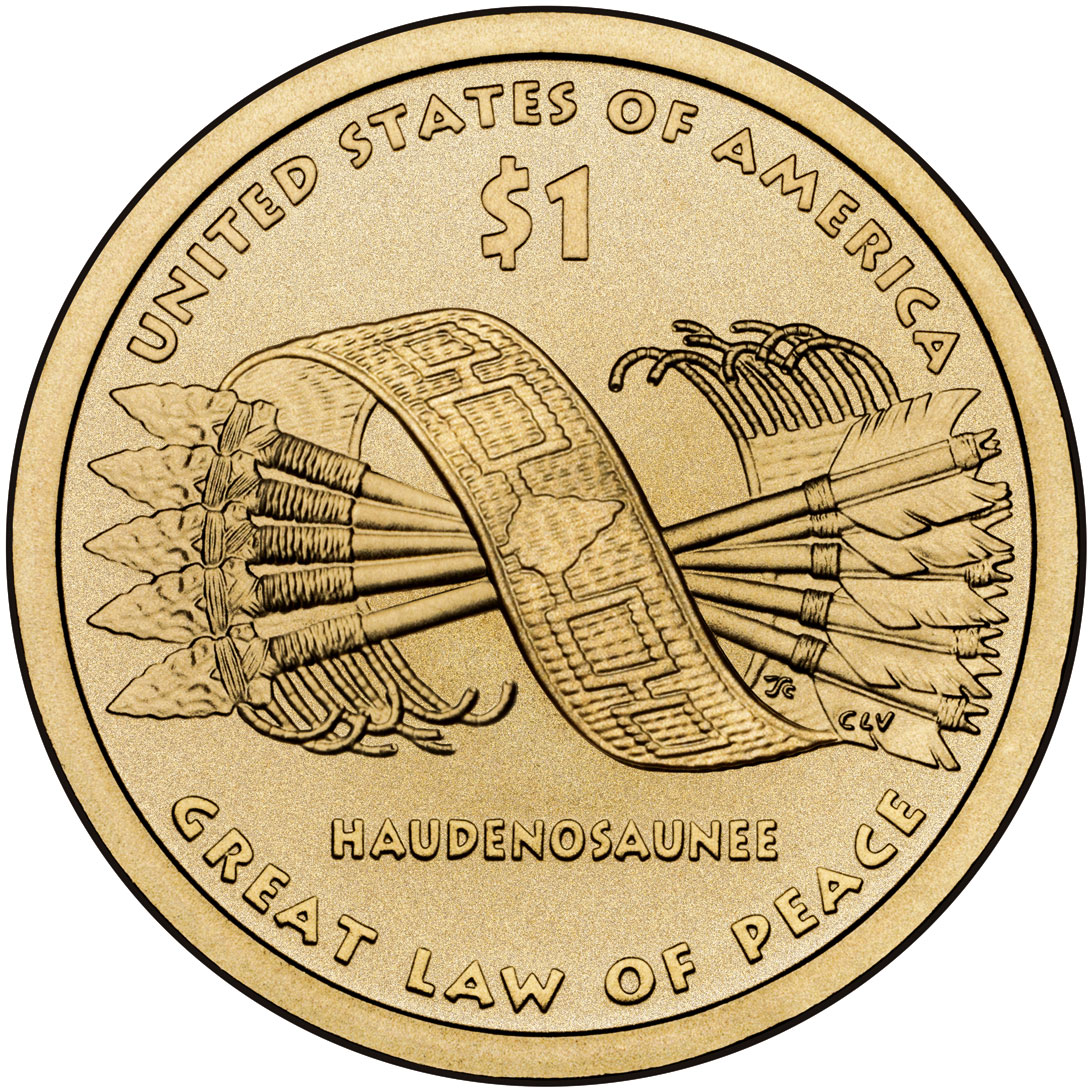 2010 Native American One Dollar Uncirculated Reverse