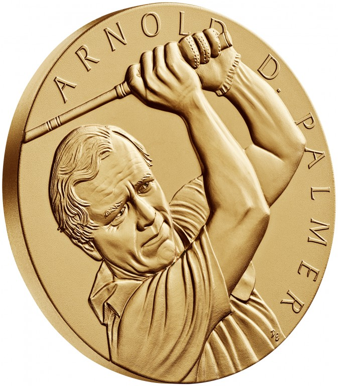 2011 Arnold Palmer Bronze Medal Three Inch Obverse Angle