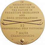 2011 Arnold Palmer Bronze Medal Three Inch Reverse