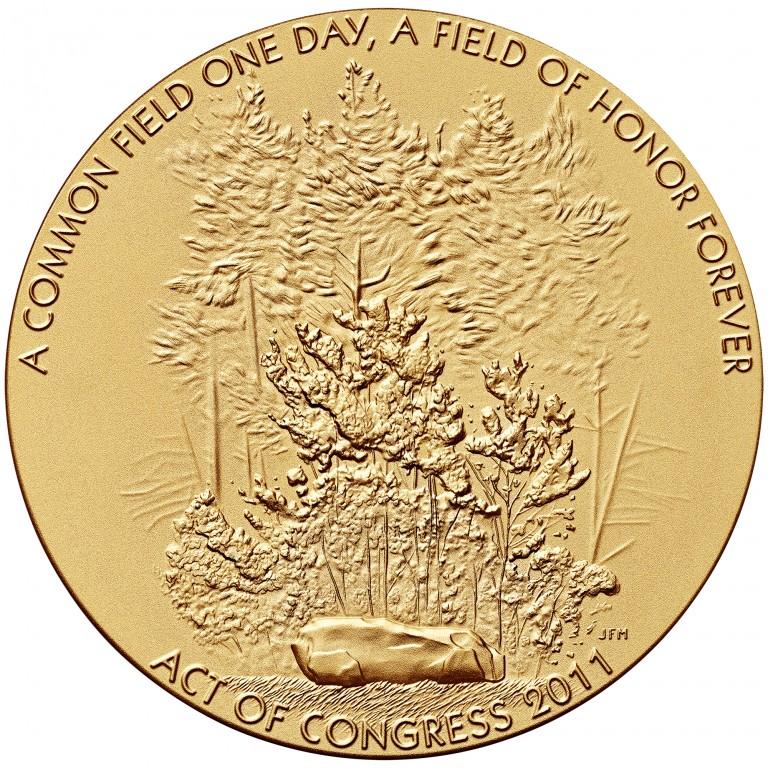 2011 Fallen Heroes Of 911 Flight 93 Bronze Medal Obverse