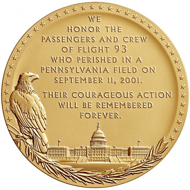 2011 Fallen Heroes Of 911 Flight 93 Bronze Medal Reverse