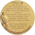 2011 Fallen Heroes Of 911 New York Bronze Medal Reverse
