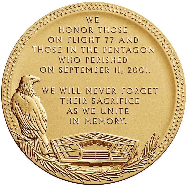 2011 Fallen Heroes Of 911 Pentagon Bronze Medal Reverse