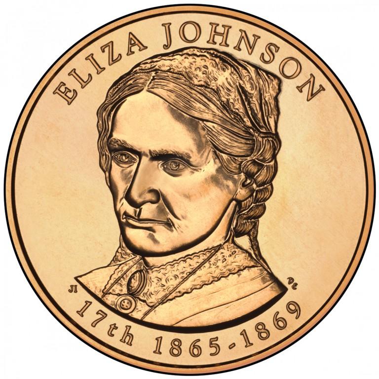 Eliza Johnson First Spouse Bronze Medal Obverse