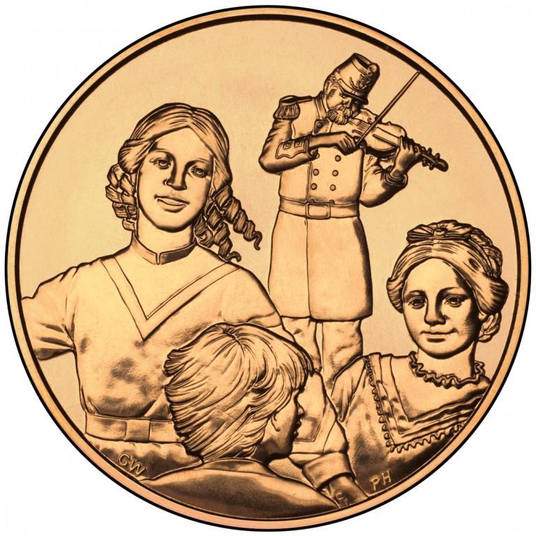 Eliza Johnson First Spouse Bronze Medal Reverse