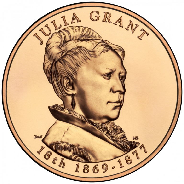 Julia Grant First Spouse Bronze Medal Obverse