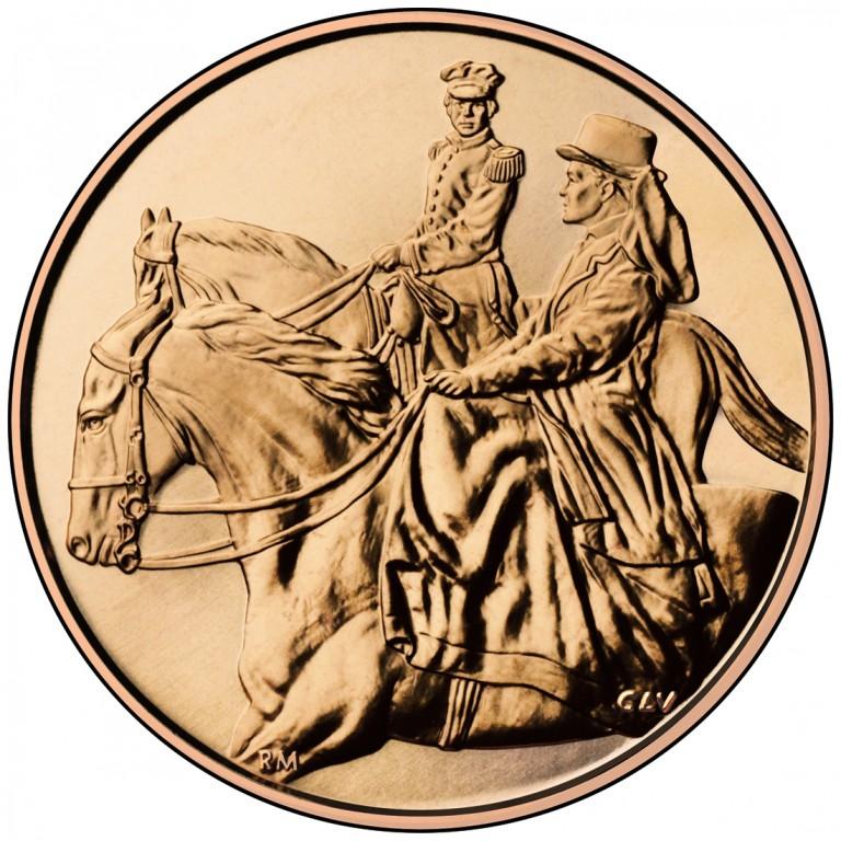 Julia Grant First Spouse Bronze Medal Reverse