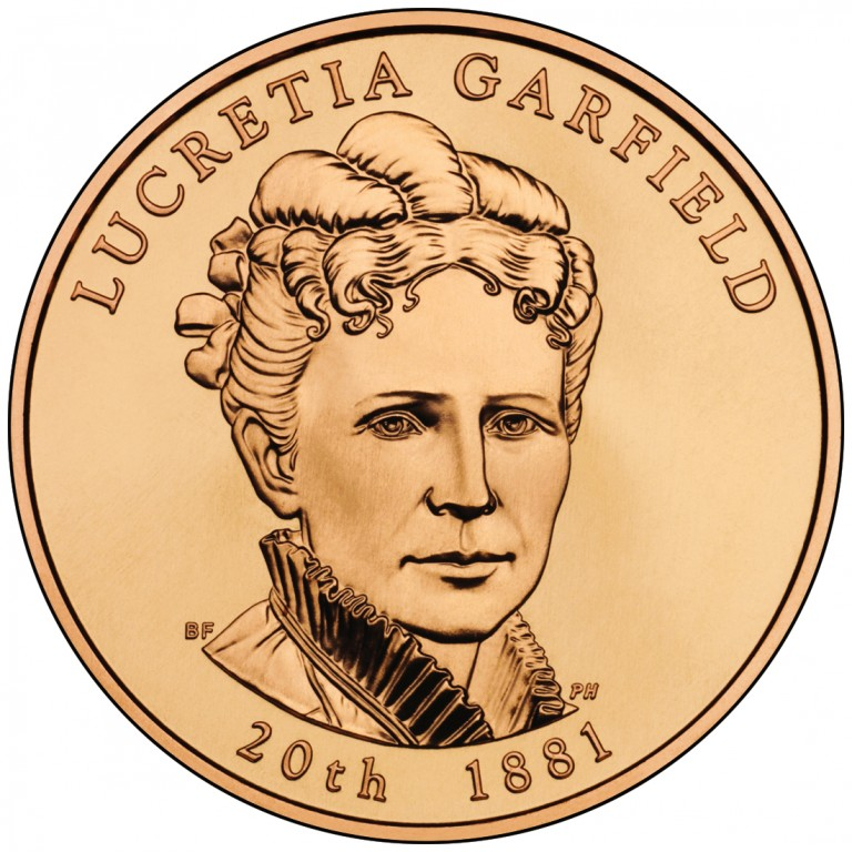 2011 First Spouse Bronze Medal Lucretia Garfield Obverse