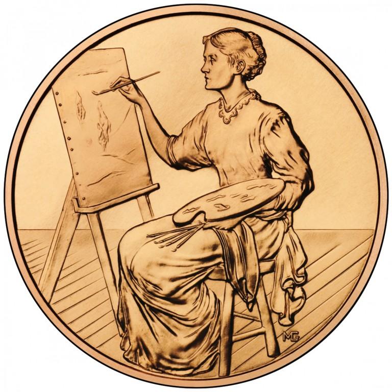 2011 First Spouse Bronze Medal Lucretia Garfield Reverse