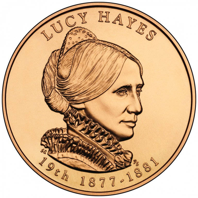 Lucy Hayes First Spouse Bronze Medal Obverse
