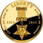 2011 Medal Of Honor Commemorative Gold Five Dollar Proof Obverse