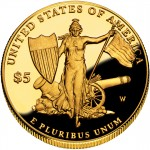 2011 Medal Of Honor Commemorative Gold Five Dollar Proof Reverse