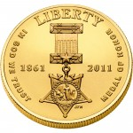 2011 Medal Of Honor Commemorative Gold Five Dollar Uncirculated Obverse