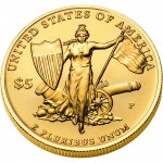 2011 Medal Of Honor Commemorative Gold Five Dollar Uncirculated Reverse