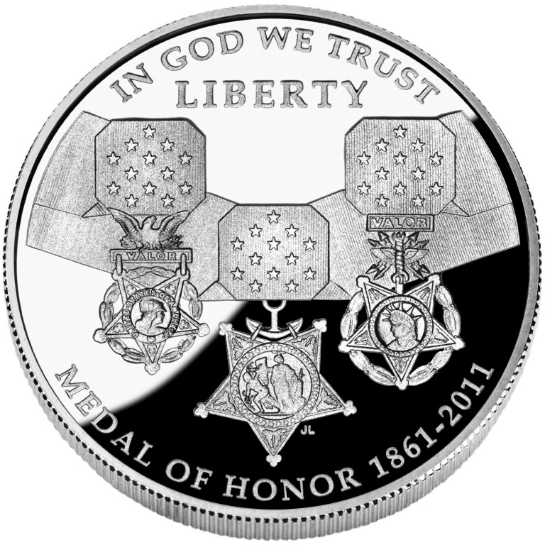 2011 Medal Of Honor Commemorative Silver One Dollar Proof Obverse