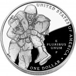 2011 Medal Of Honor Commemorative Silver One Dollar Proof Reverse