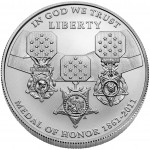 2011 Medal Of Honor Commemorative Silver One Dollar Uncirculated Obverse
