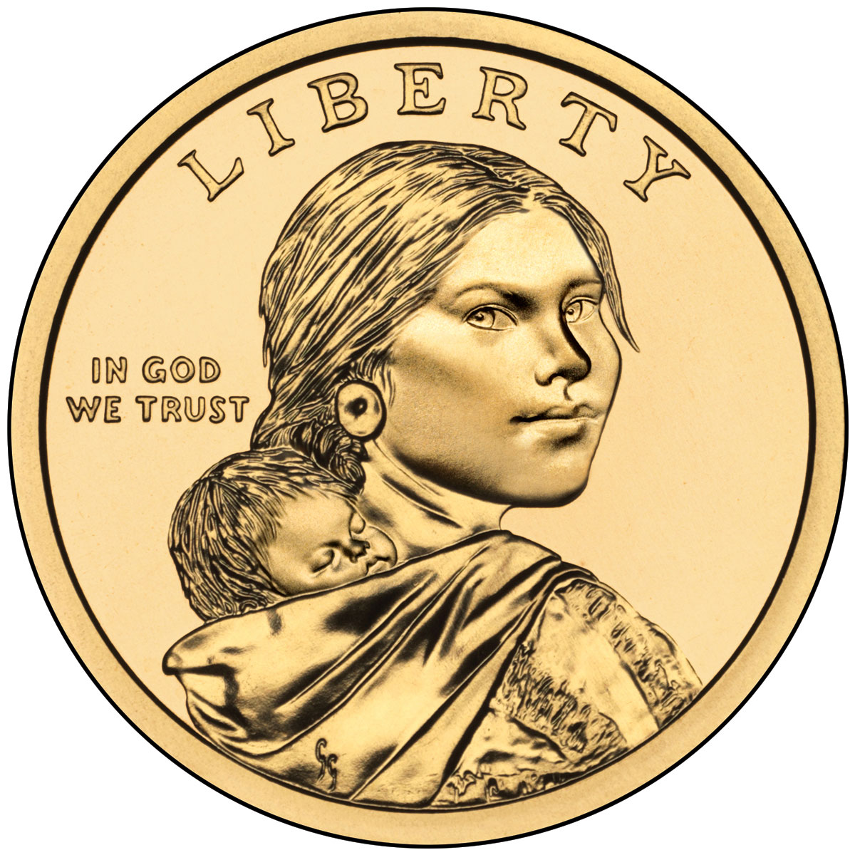 2011 Native American One Dollar Uncirculated Obverse