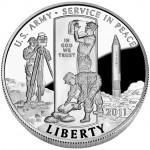 2011 United States Army Commemorative Clad Half Dollar Proof Obverse