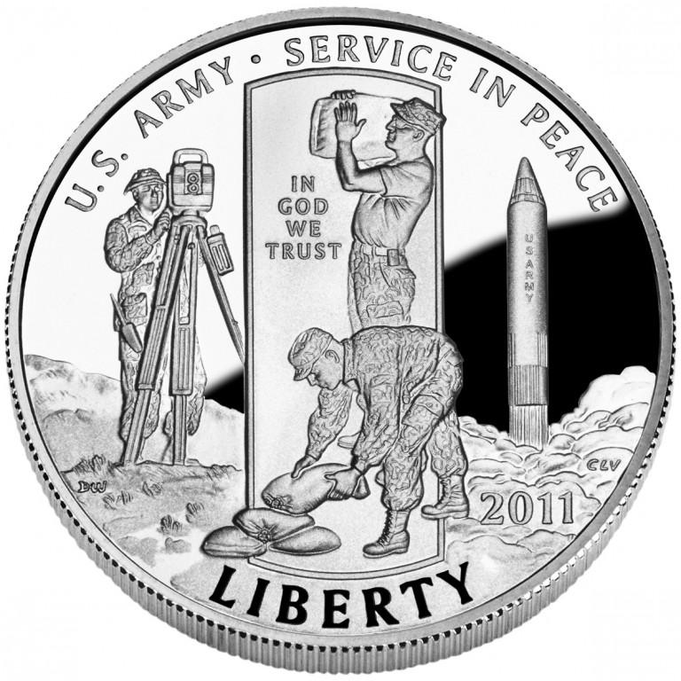 2011 United States Army Commemorative Clad Half Dollar Proof Obverse