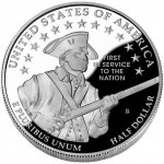 2011 United States Army Commemorative Clad Half Dollar Proof Reverse