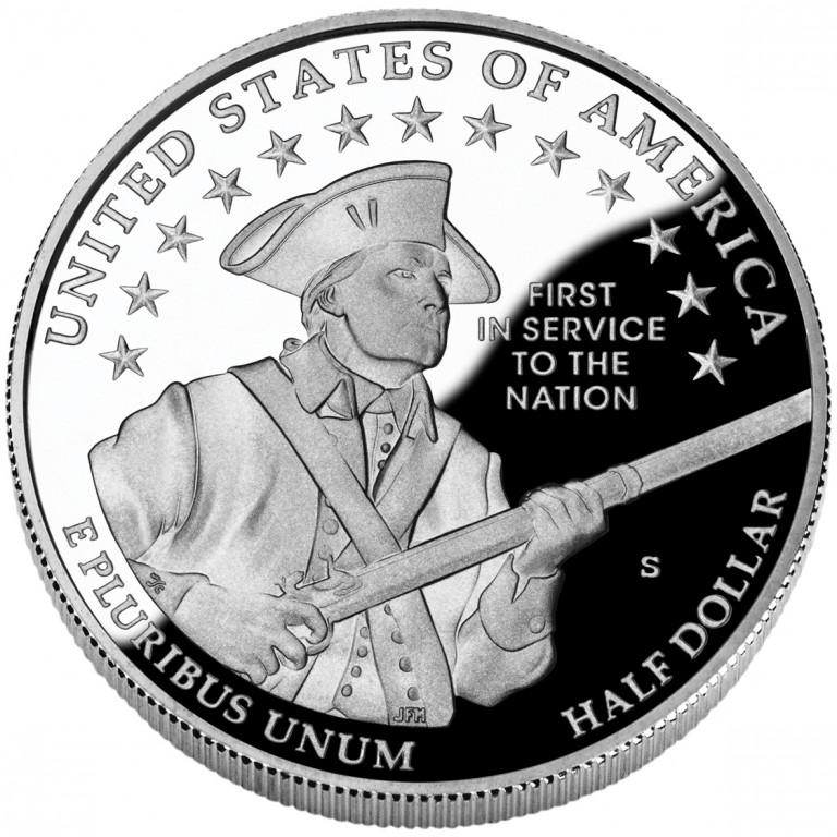 2011 United States Army Commemorative Clad Half Dollar Proof Reverse