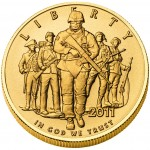 2011 United States Army Commemorative Gold Uncirculated Obverse