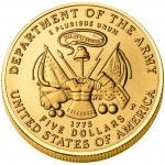 2011 United States Army Commemorative Gold Uncirculated Reverse