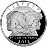 2011 United States Army Commemorative Silver One Dollar Proof Obverse