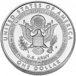2011 United States Army Commemorative Silver One Dollar Uncirculated Reverse