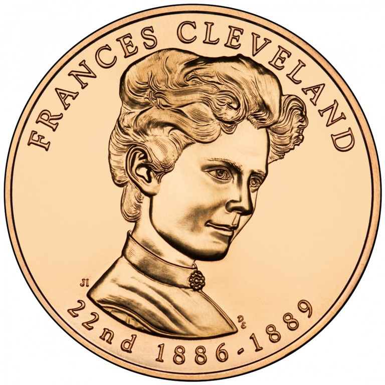 Frances Cleveland First Term First Spouse Bronze Medal Obverse